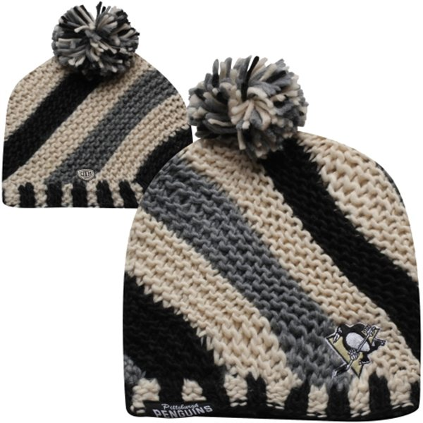 Old Time Hockey Pittsburgh Penguins Ladies Ruby Knit Beanie – Black