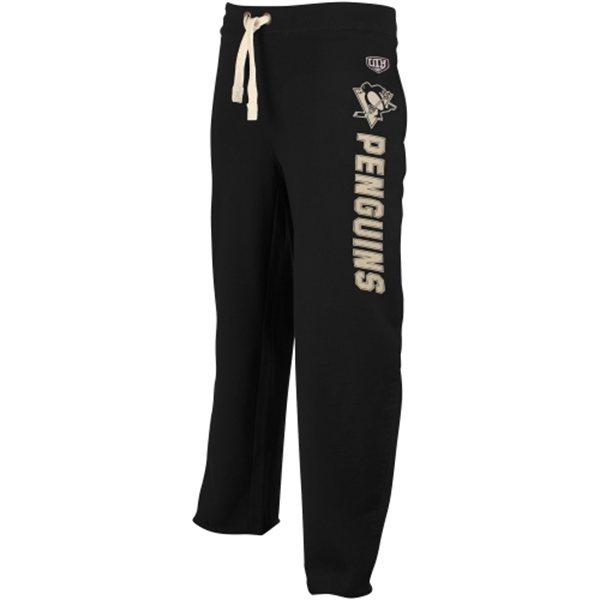 Pittsburgh Penguins Old Time Hockey Black Wordmark Sweatpants
