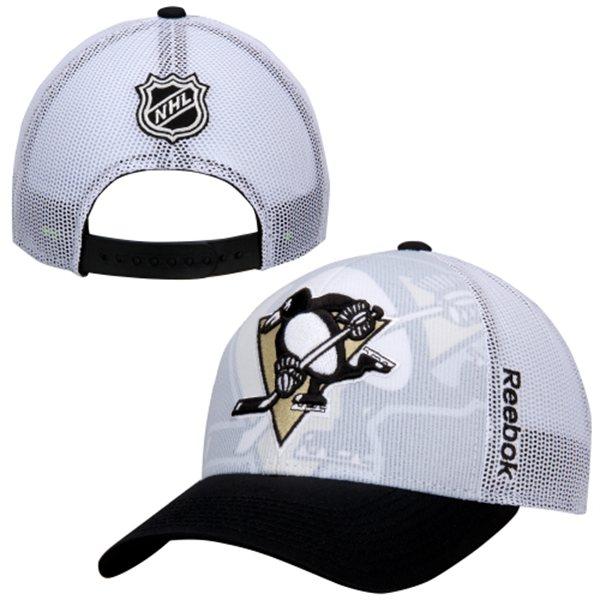 Men's Penguins Reebok NHL Draft Adjustable Hat